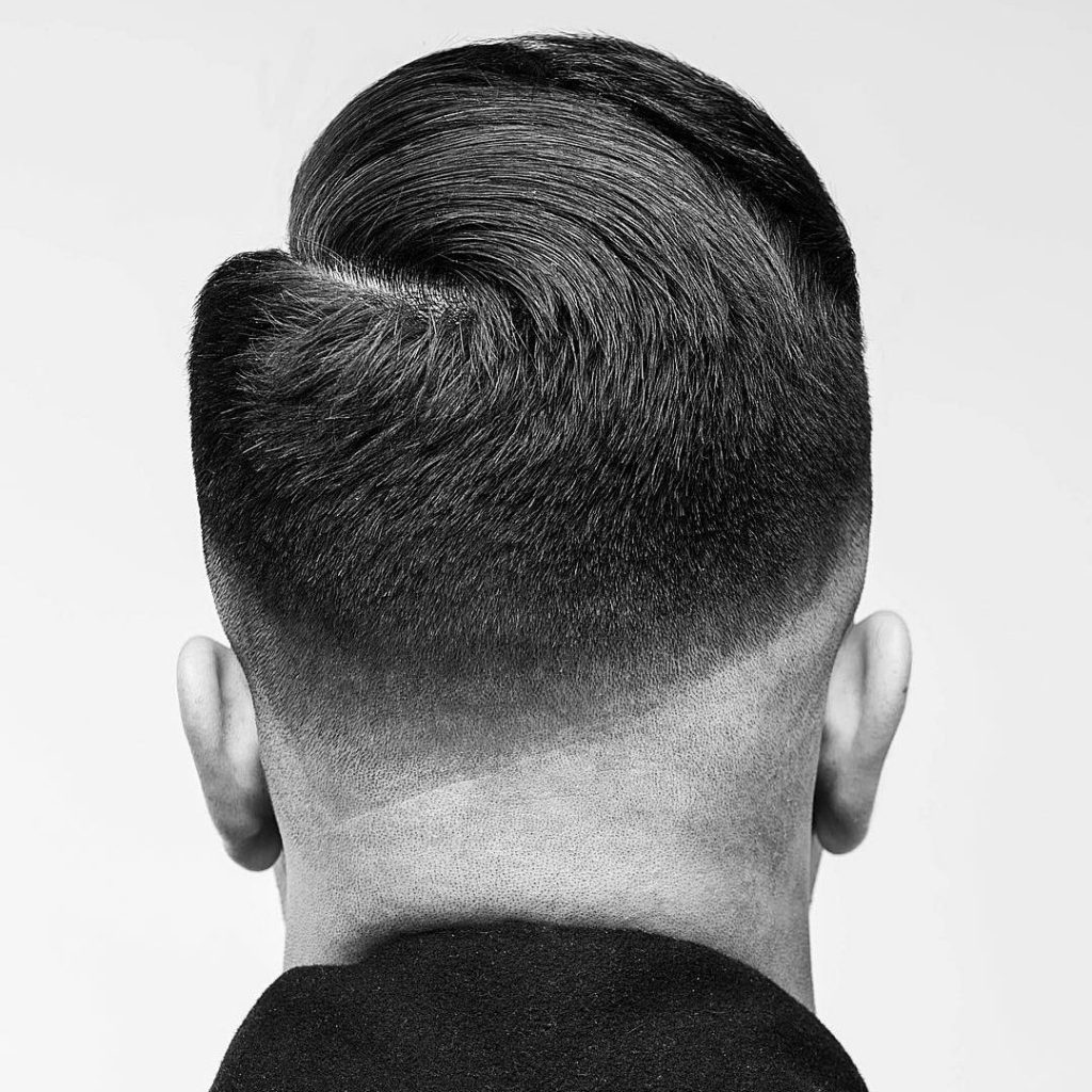 Low fade combover haircut