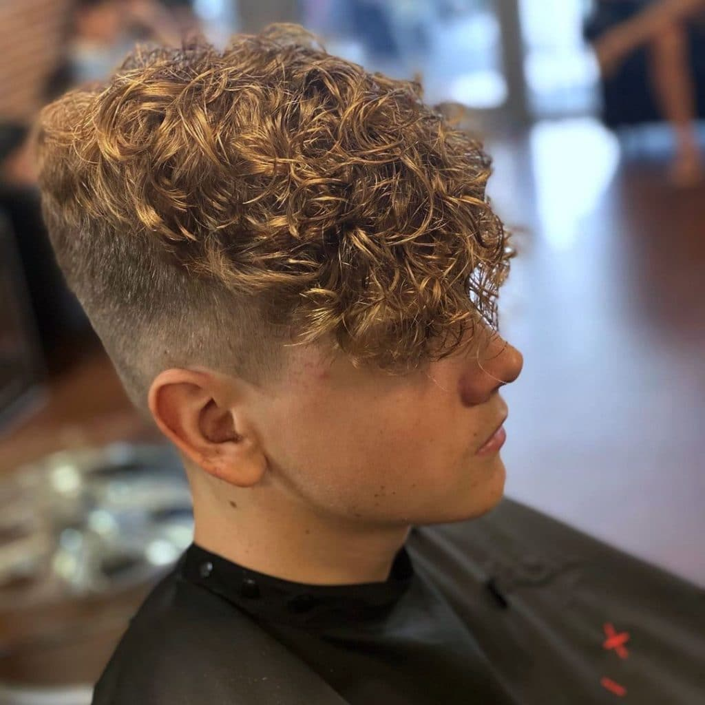 Men's perm with fade