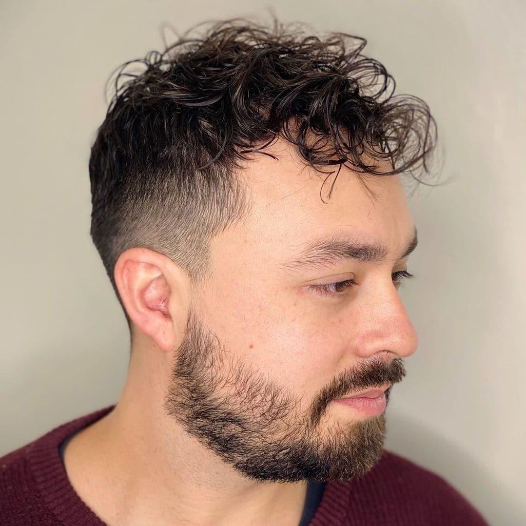 Short hair perm for men
