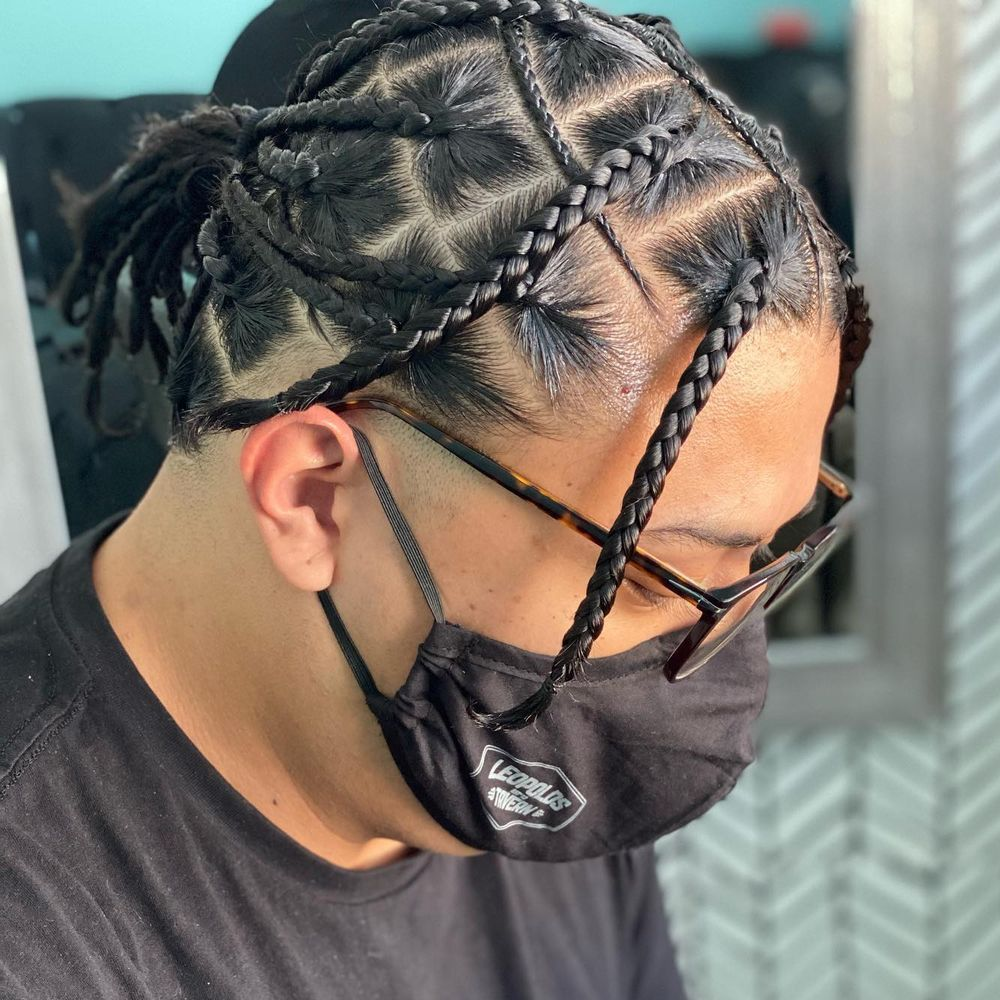 Spider braids for men