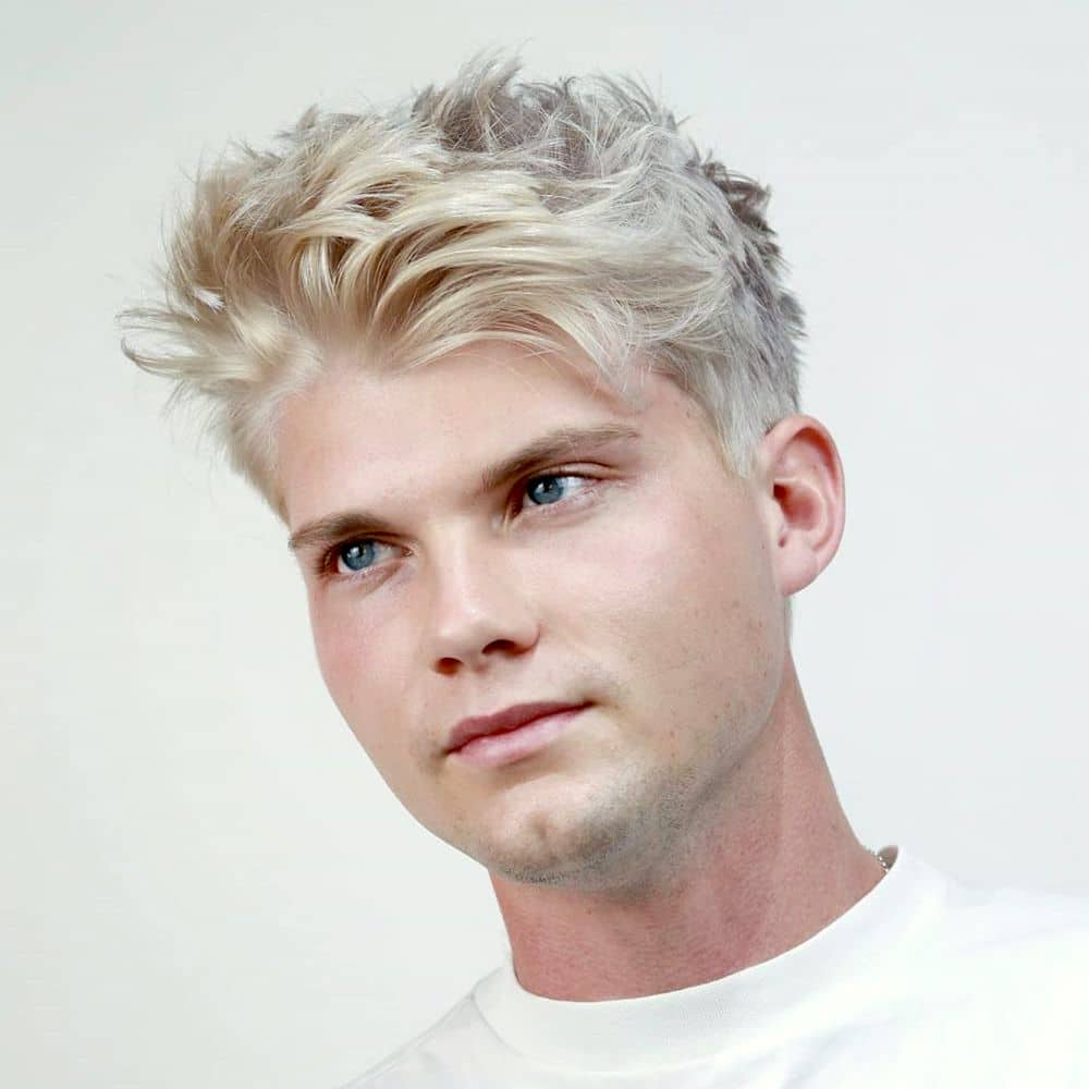 Textured haircut for men