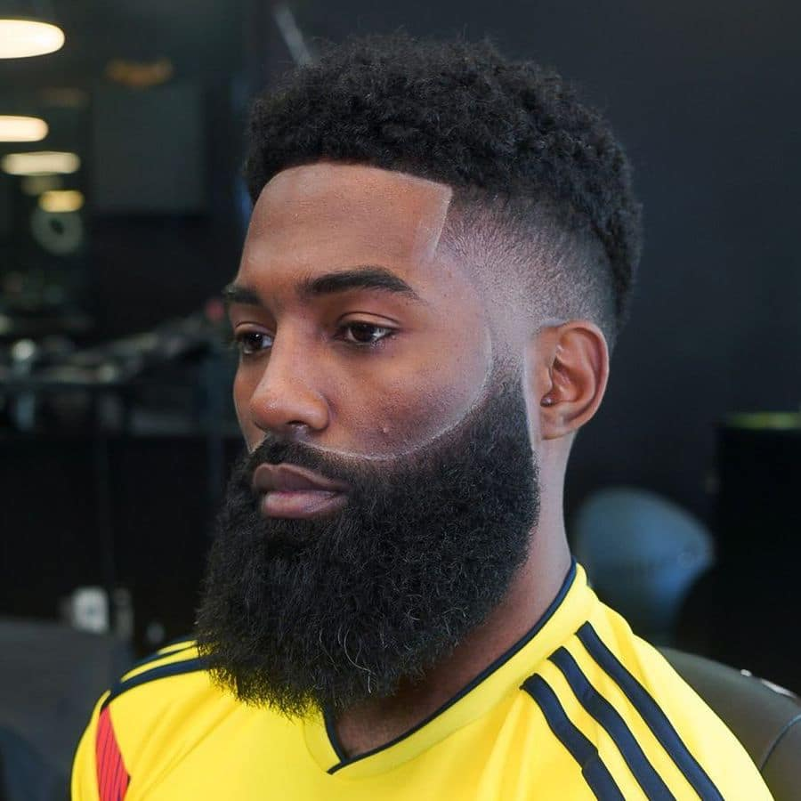 Beard fade styles for Black men