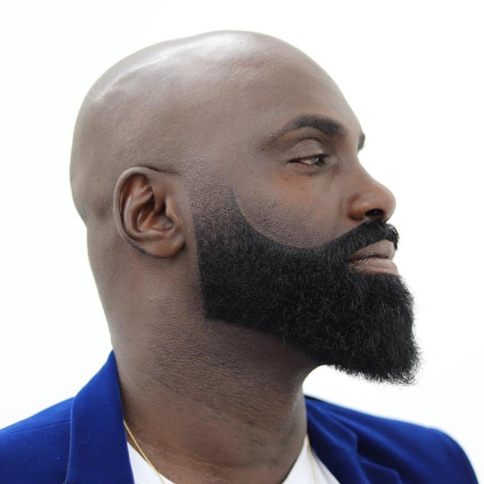 Bald with beard fade