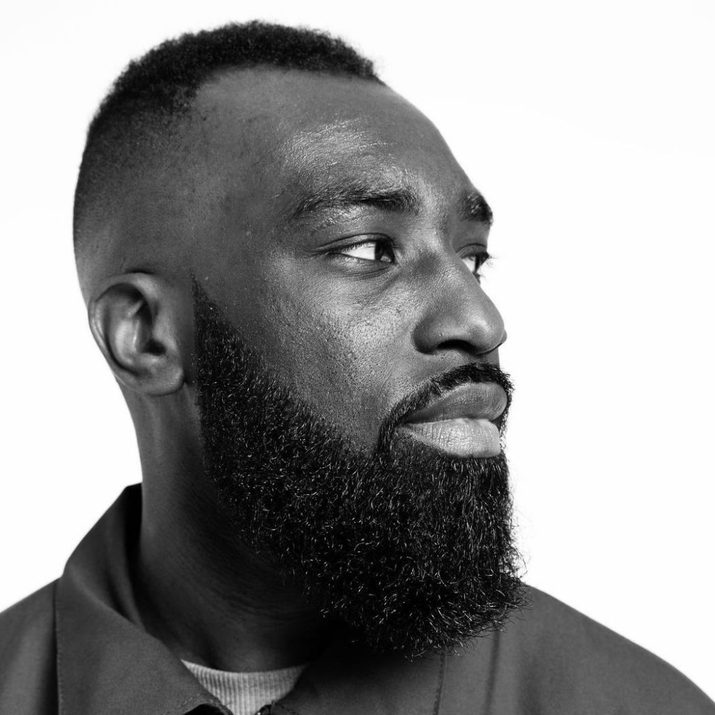 Fade haircut with shaped beard for Black men
