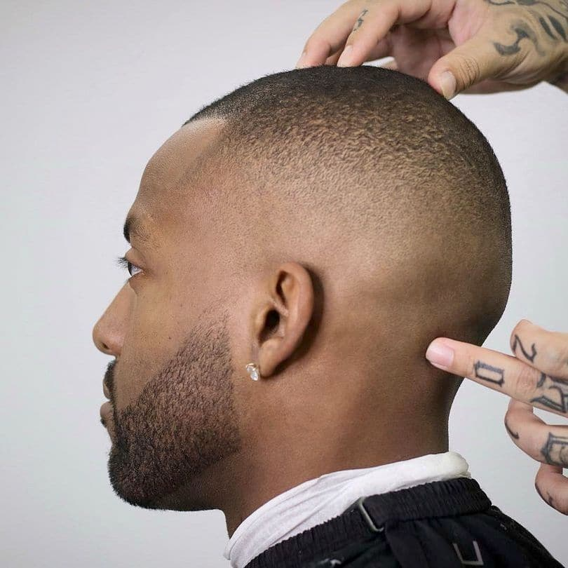 High beard fade for Black men
