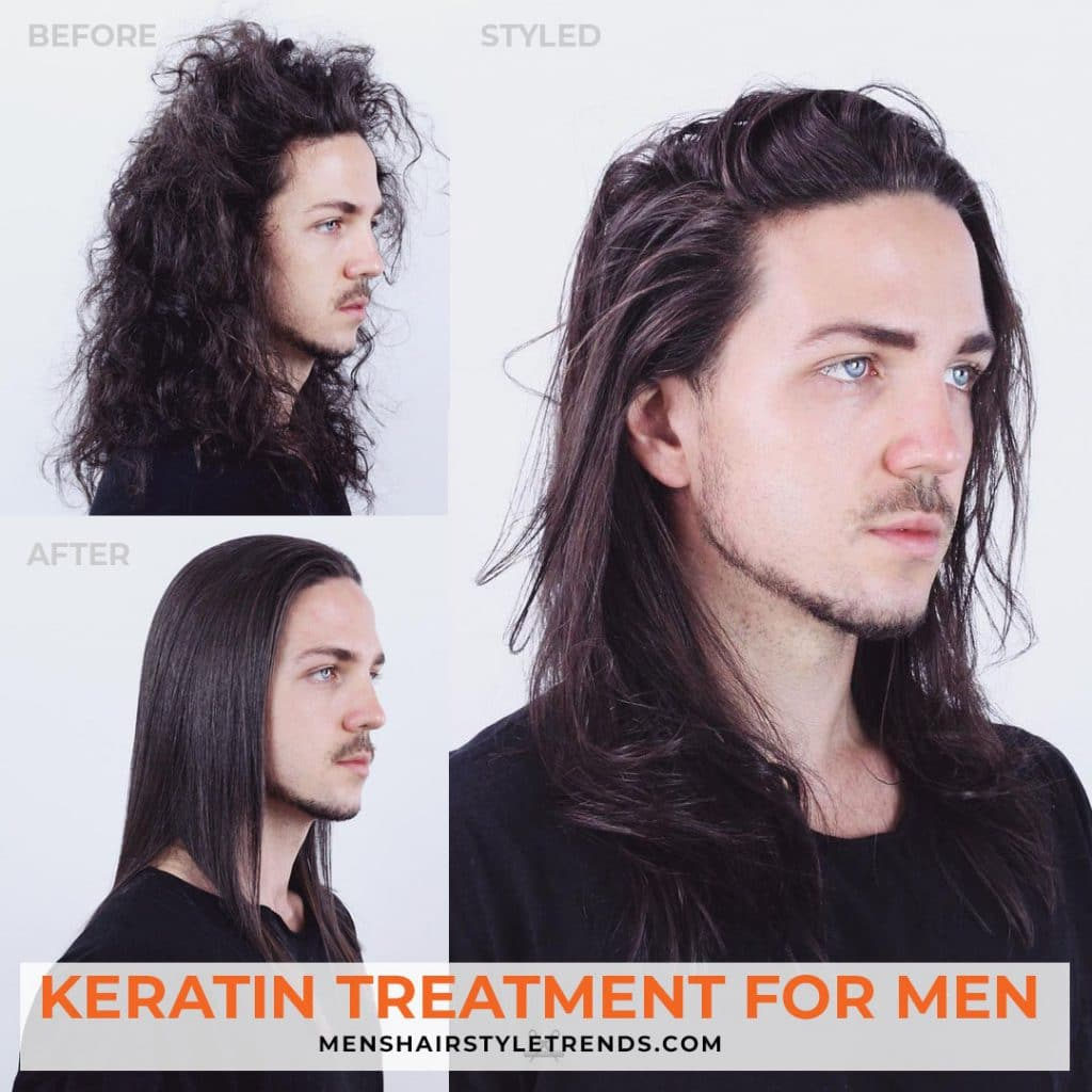 Keratin treatment for men curly hair