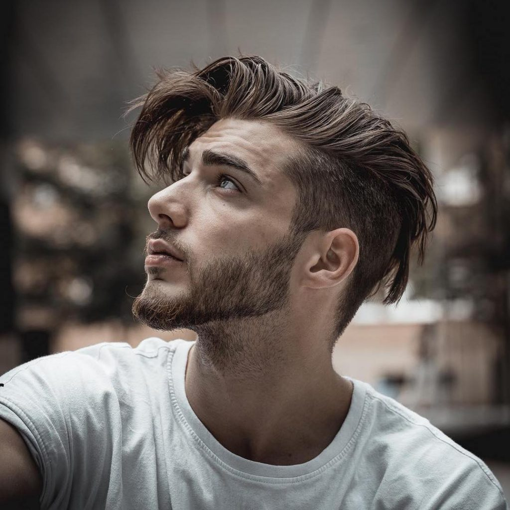 Medium length undercut for men