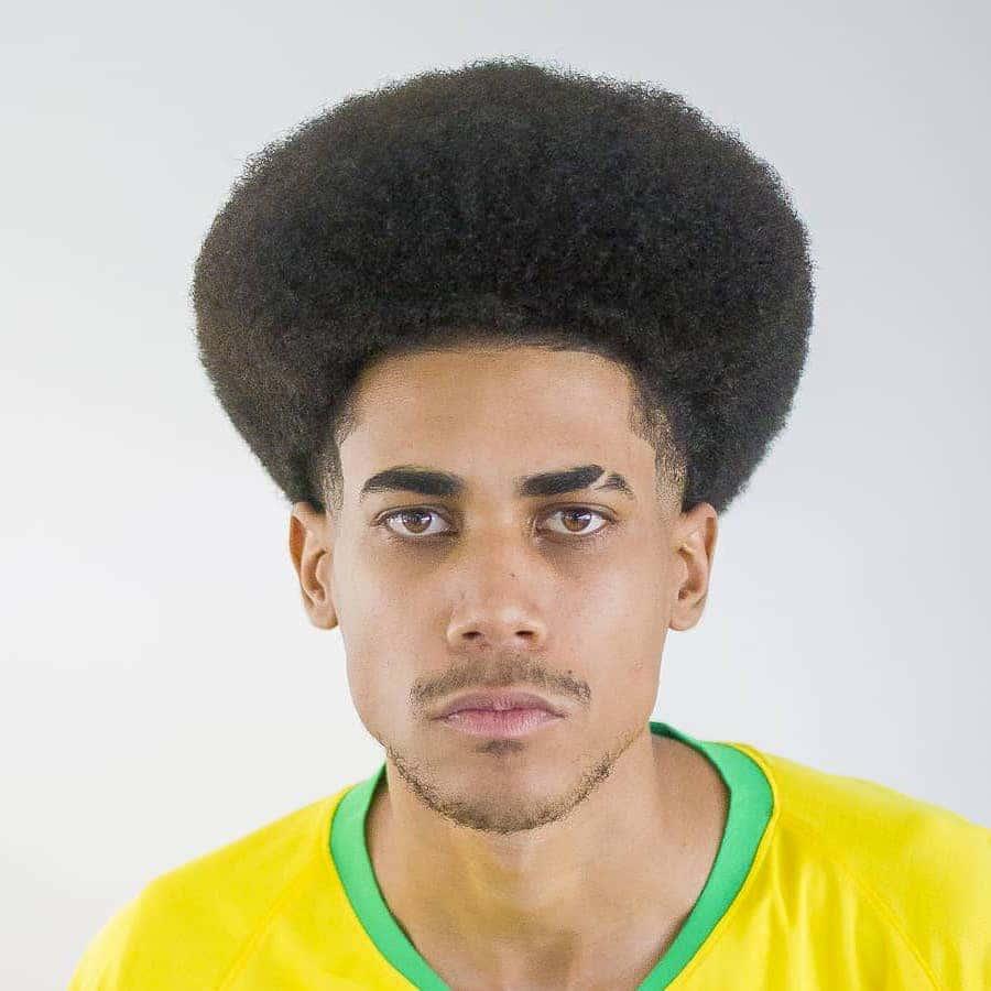 Taper Fade + Afro