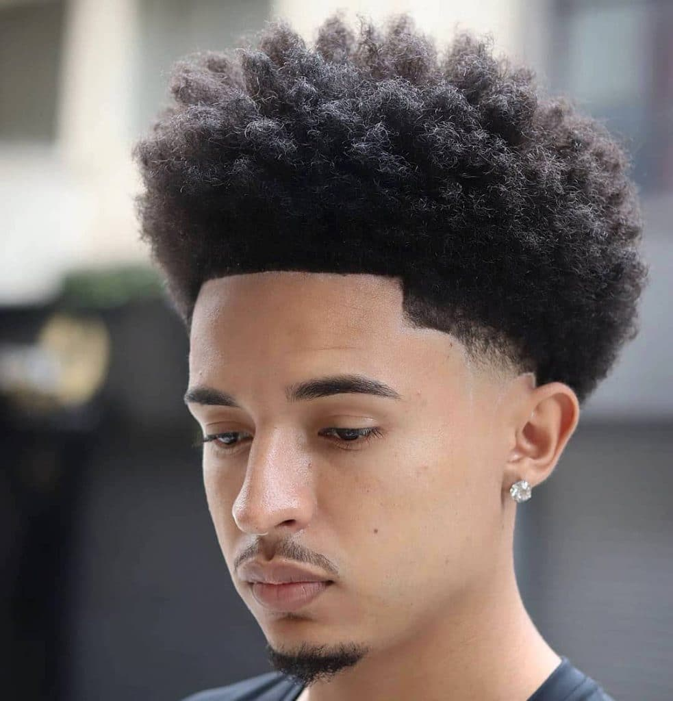 Mid taper fade afro