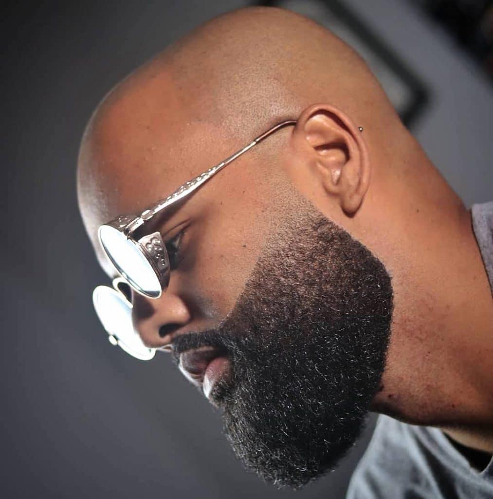 Beard fade with bald