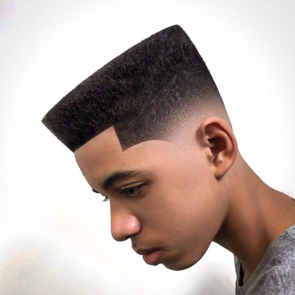 Flat top haircut for Black boys