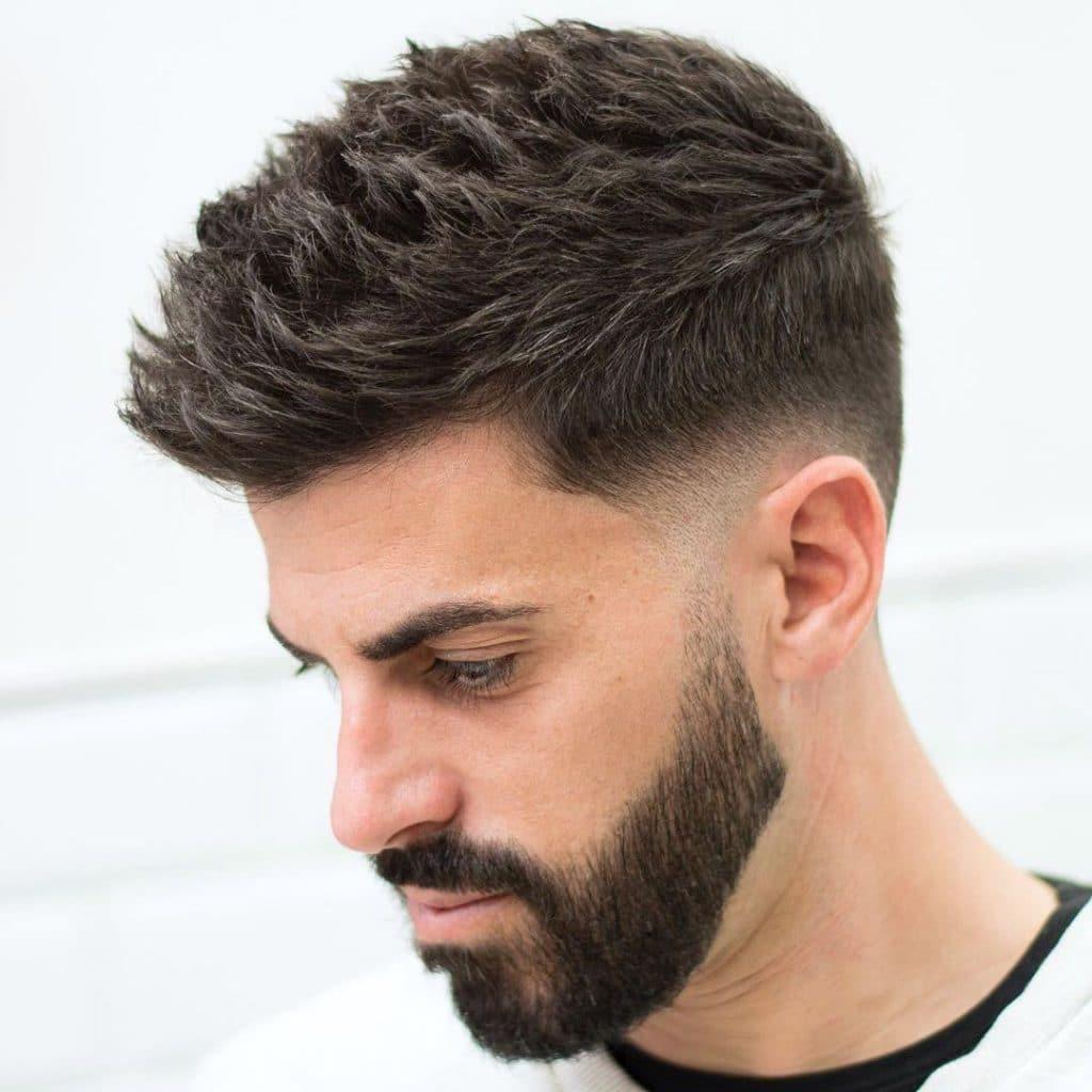Modern textured spiky hair