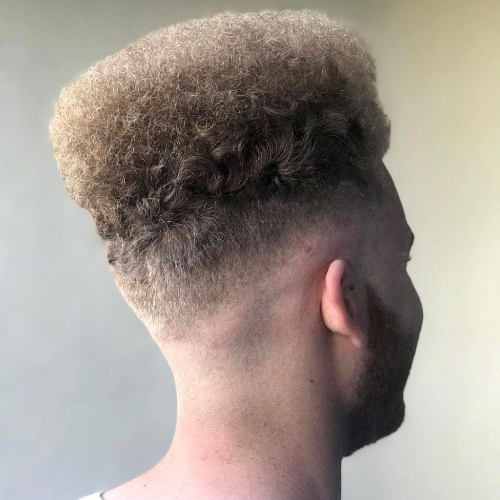 Flat top haircut for Mixed curly hair