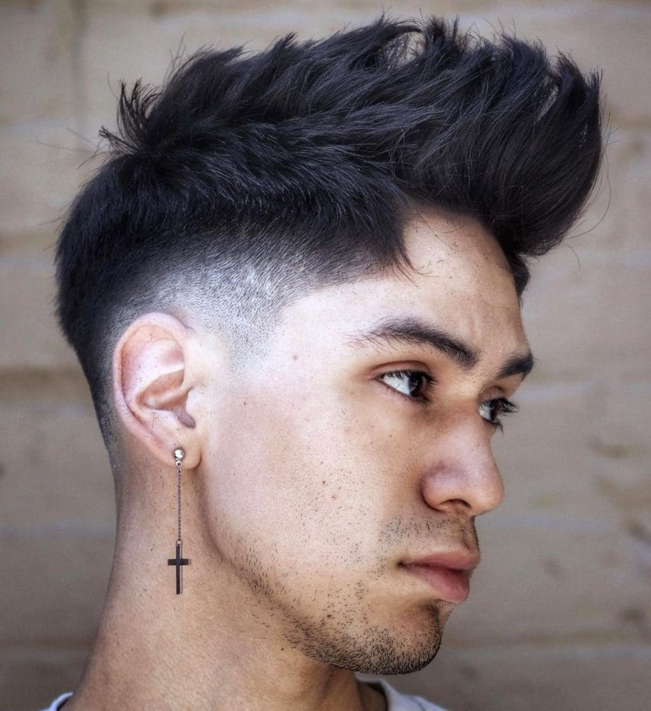 Long spiky hairstyle