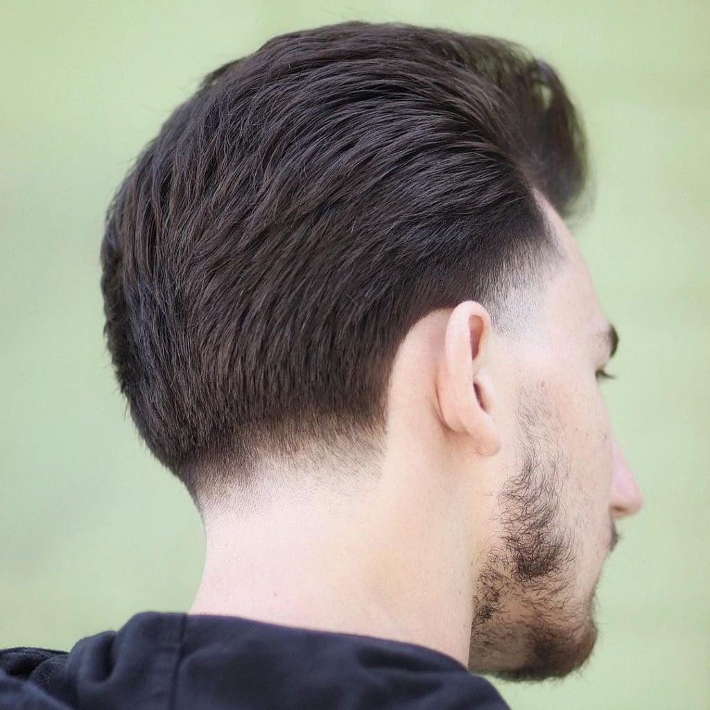 Low tape up haircut