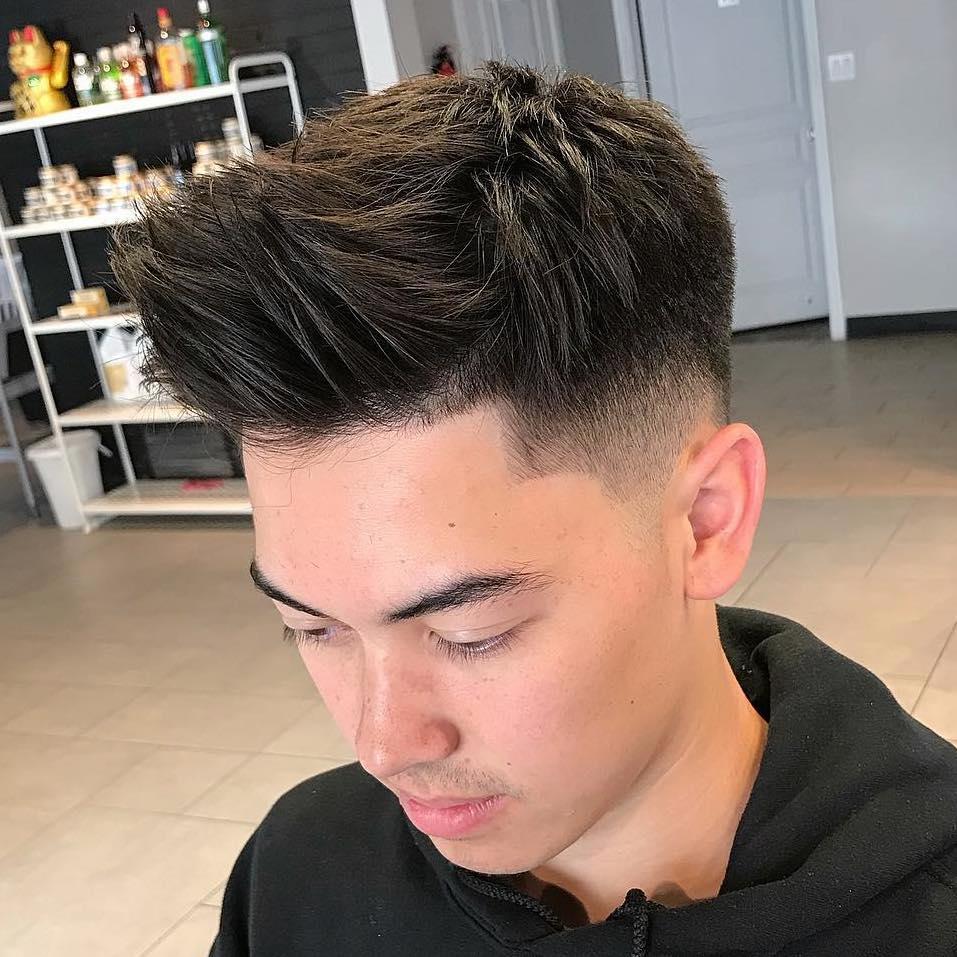 Spiky Asian Hair