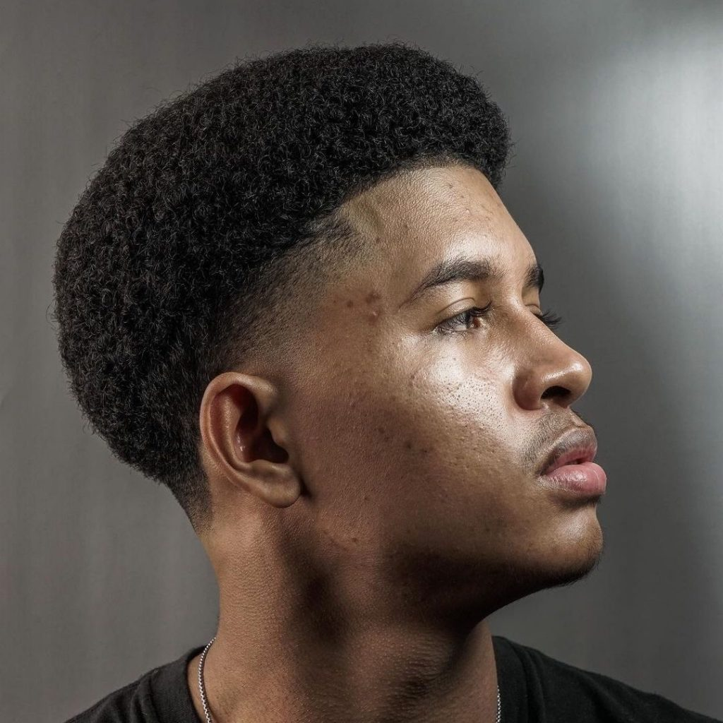 Tape Up Haircut Black Man