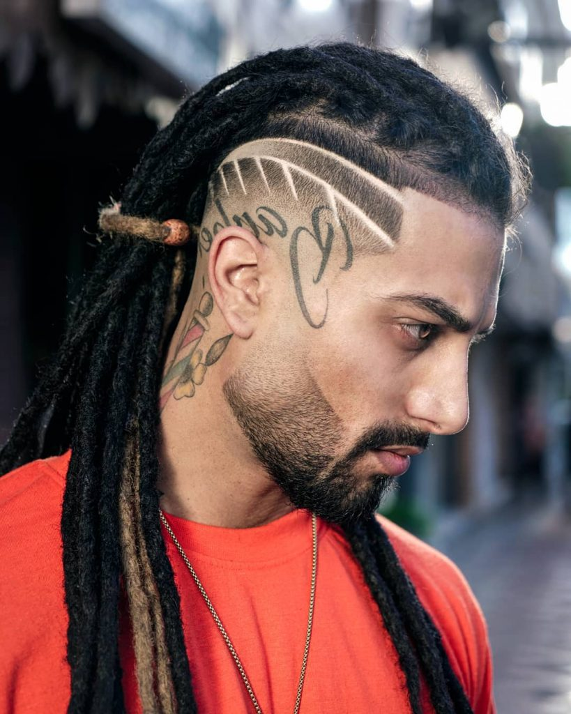 Undercut with dreads