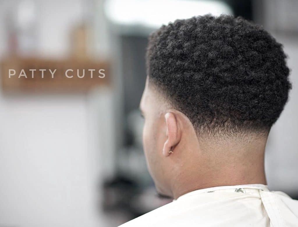 Black taper fade haircut