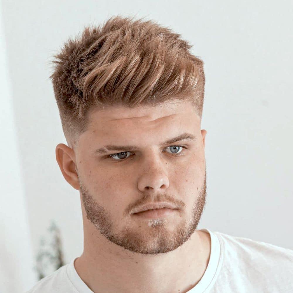 Blonde fade haircut