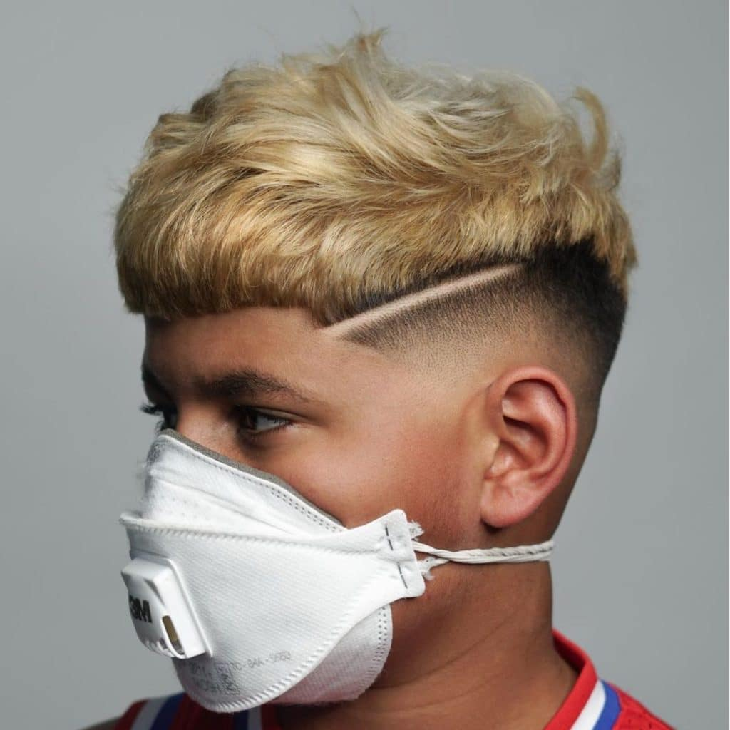 Boy's fade haircut