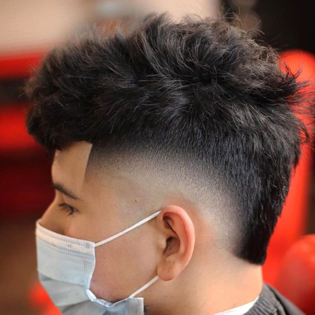 Crop fade mohawk haircut