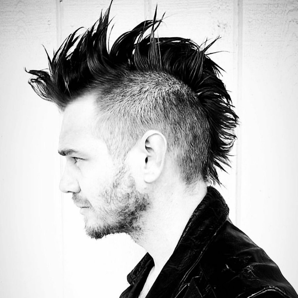 Mohawk haircut