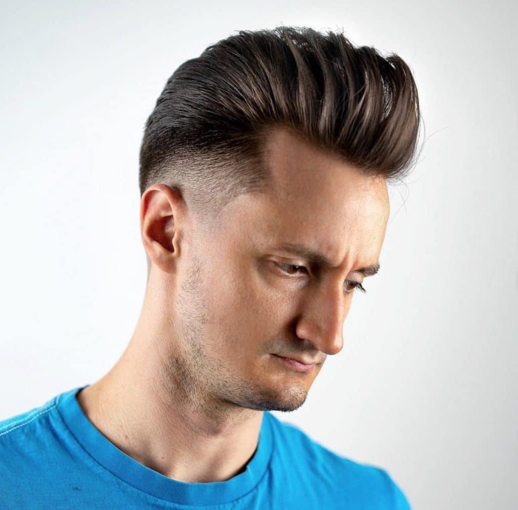Shadow fade haircut