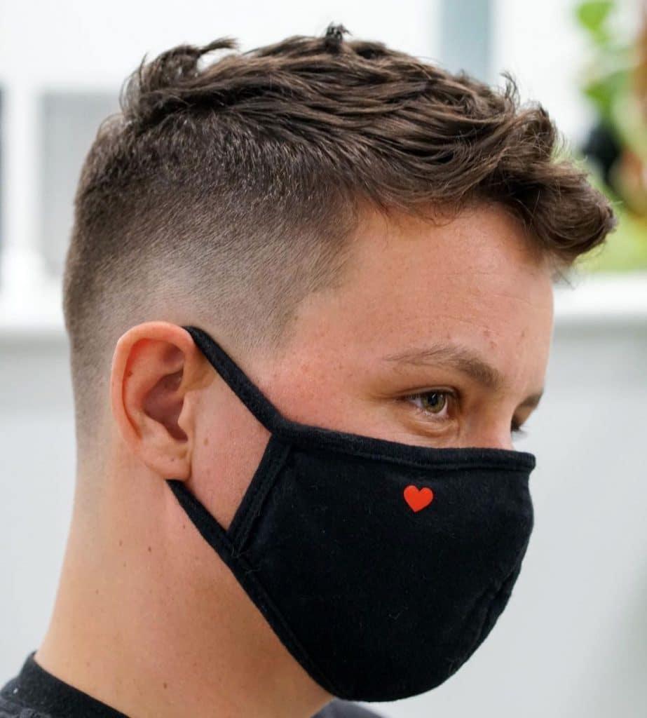 Short men's fade haircut