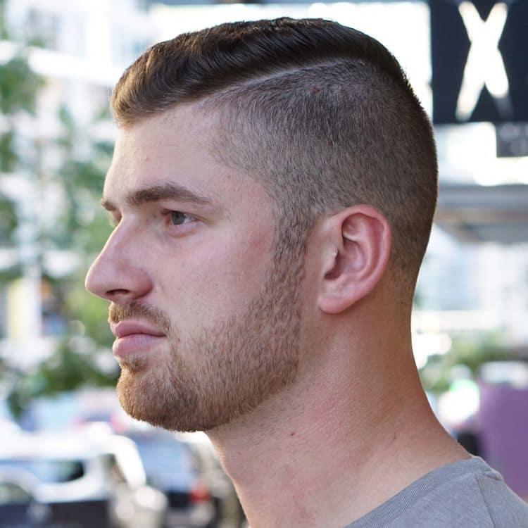 Short comb over undercut fade