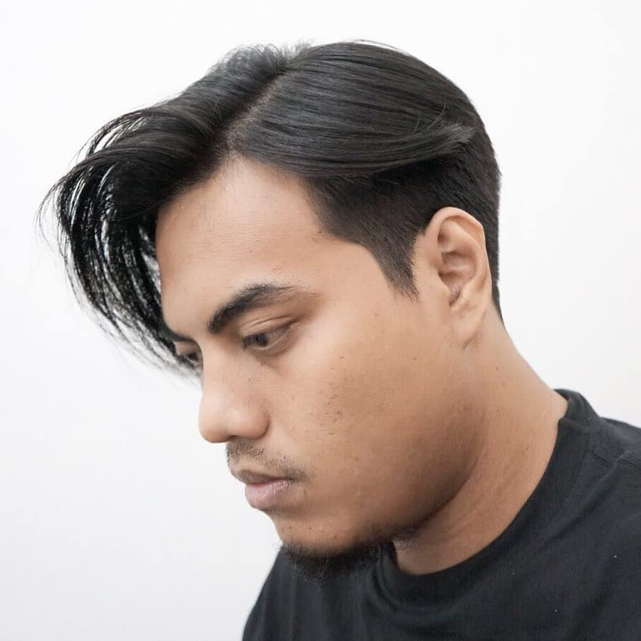 Side part e-boy haircut