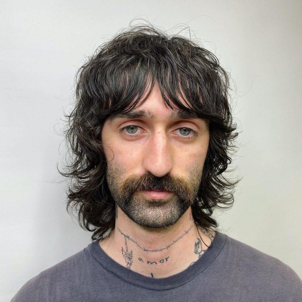 70s shag hair men Frank Zappa