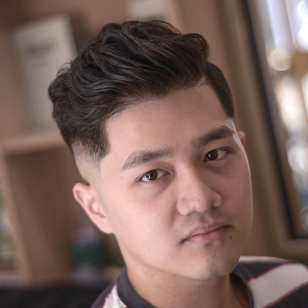 Asian Slicked Back Hair