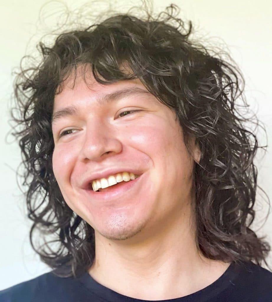 Long curly haircut men