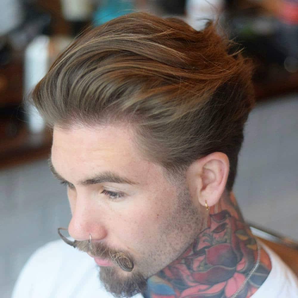 Men's medium length flow haircut