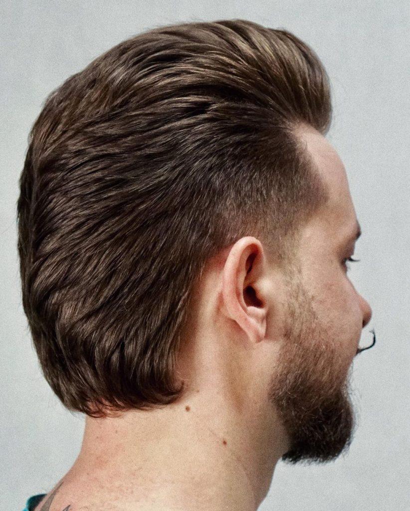 Long hair necklines for men mullet