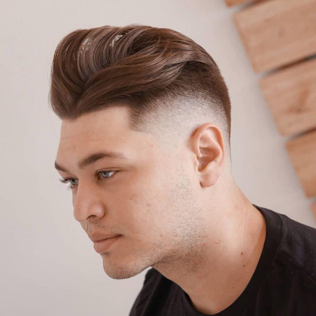 Men's medium length haircuts high fade