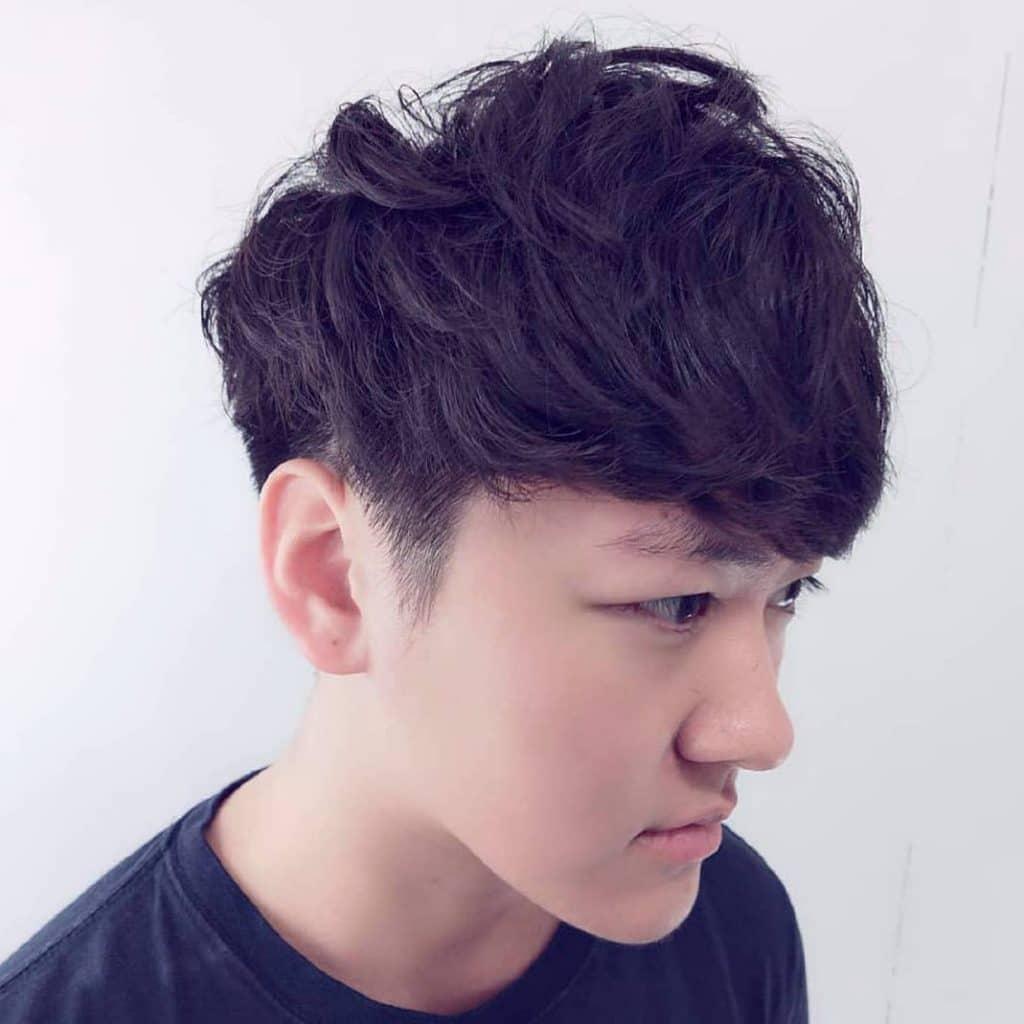 Fringe hairstyles for Asian men
