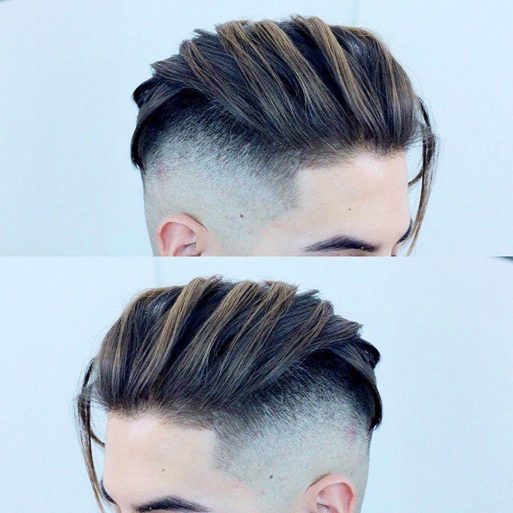 Men's medium haircut undercut fade