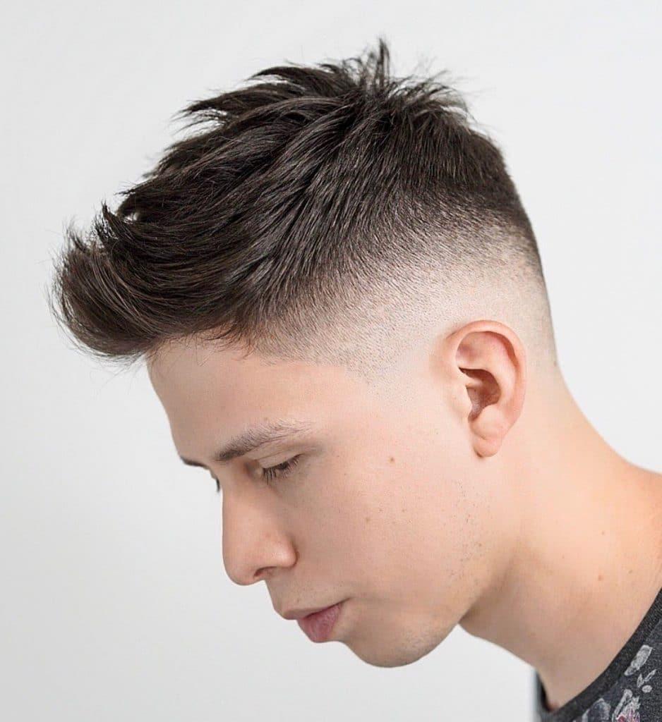 Men's medium fade haircut