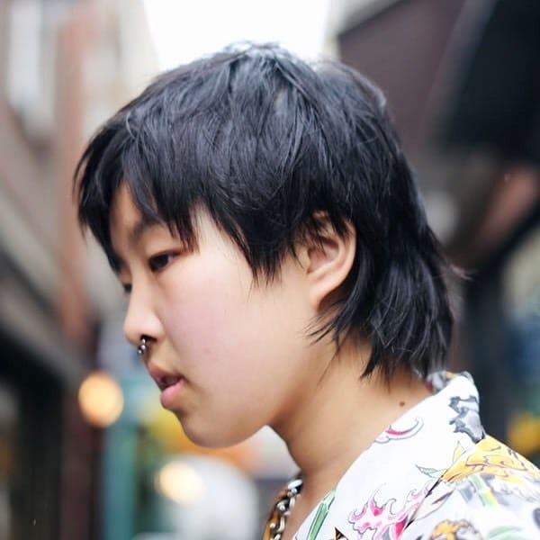 Cool shag mullet haircut Asian men