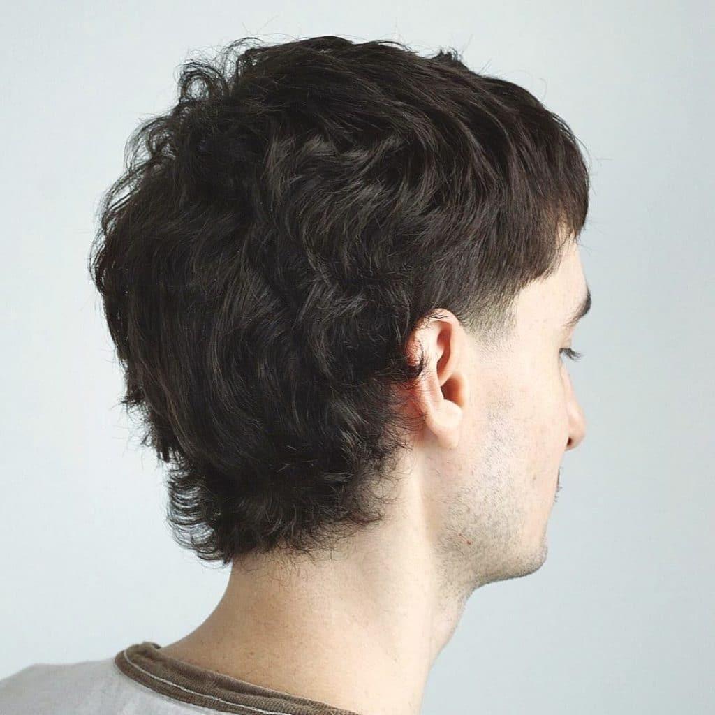Short shag haircut men