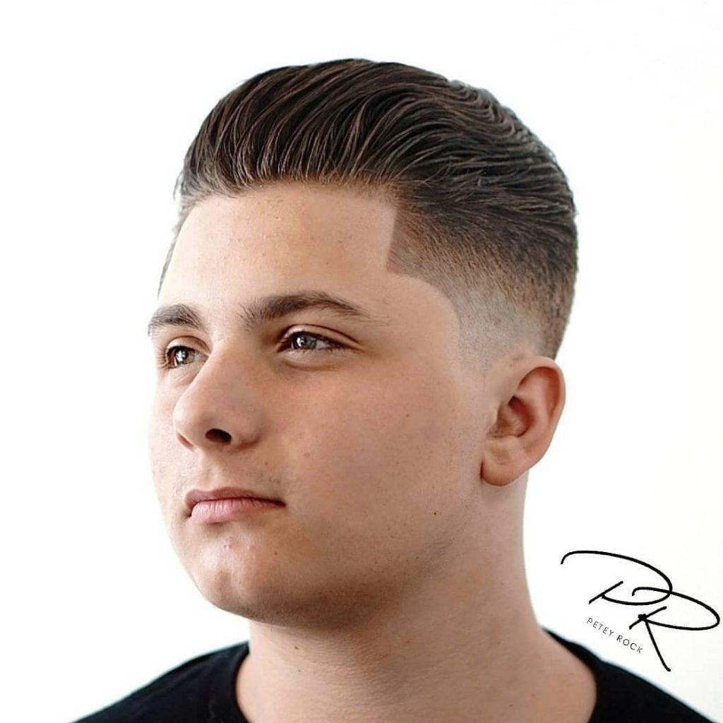 Slicked Back Hair Fade