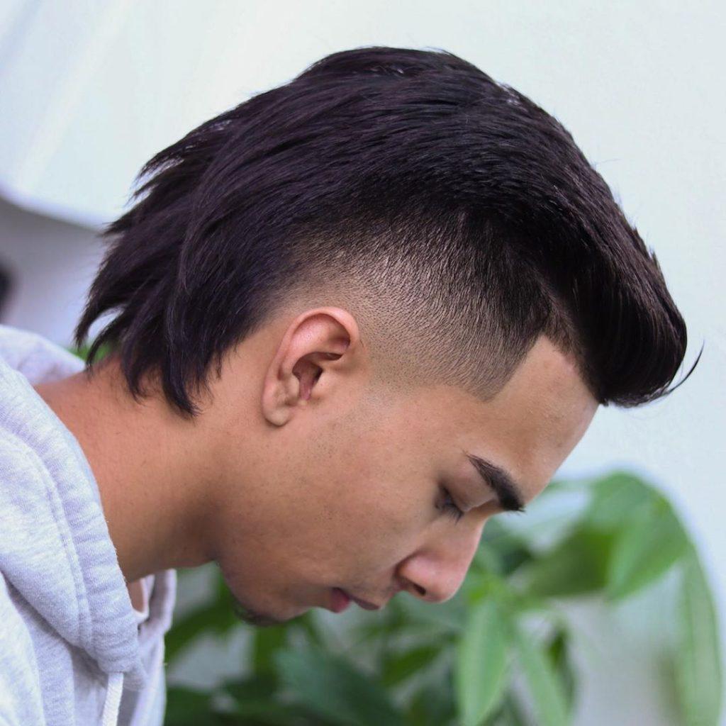 Burst fade mullet haircut