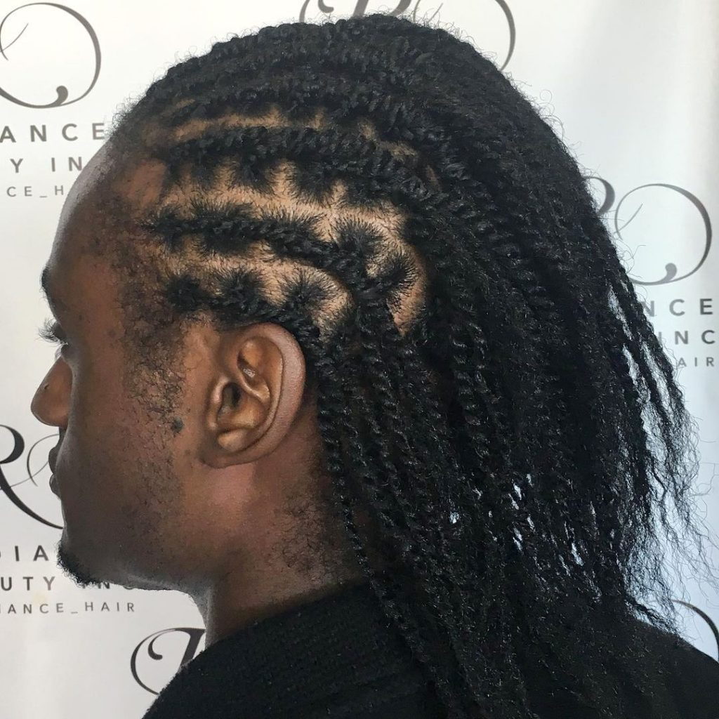Flat twist hairstyles for men