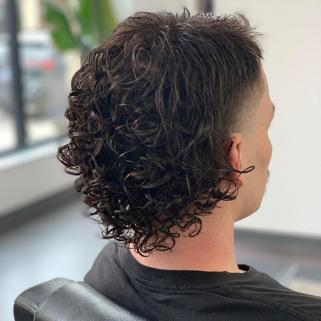 Mullet with perm at the back