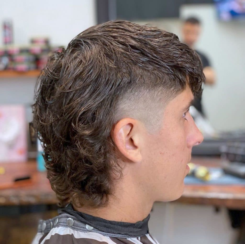 Mullet fade with perm