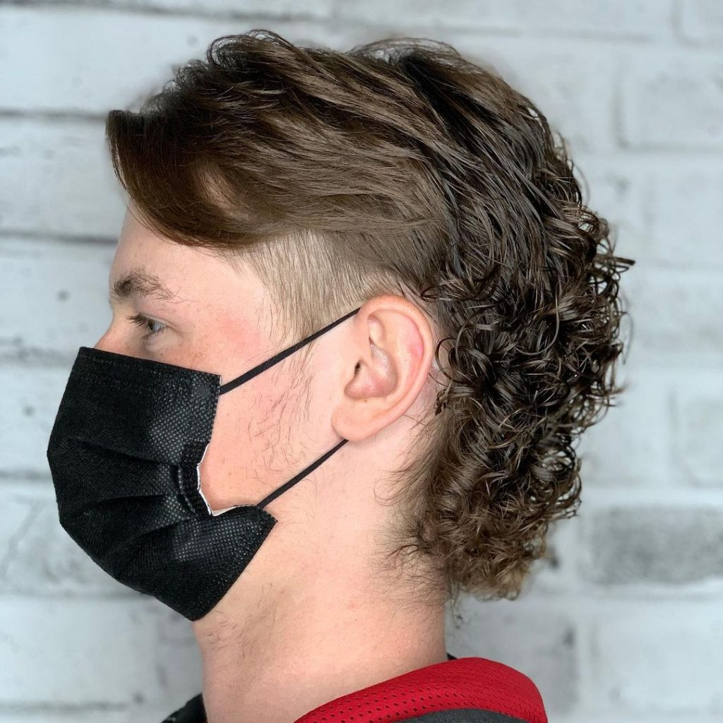 Mullet with a perm