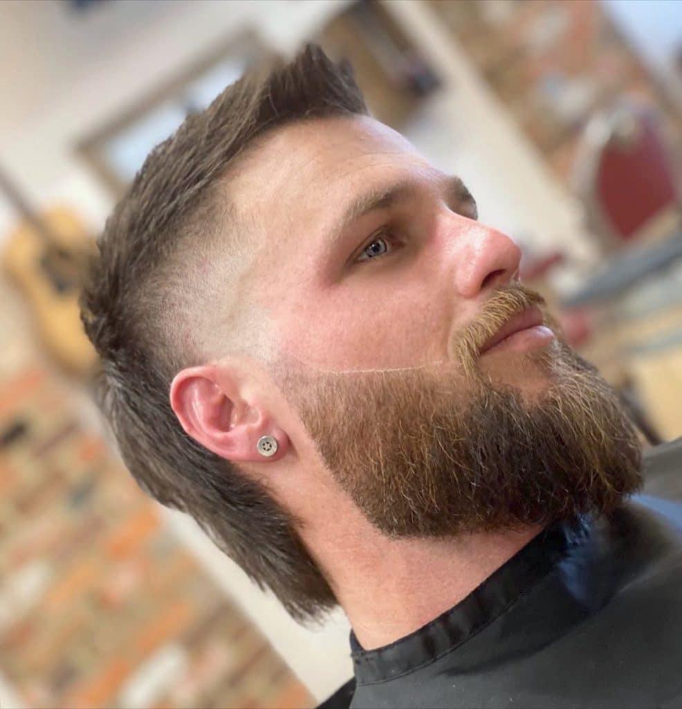 Mullet faux hawk beard