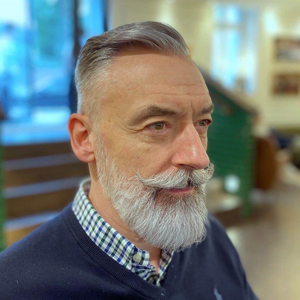 Older men hairstyles with beard
